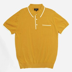 Tipped Cotton Sweater Mustard Polo