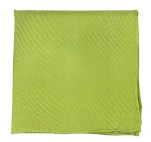 Solid Twill Lime Pocket Square