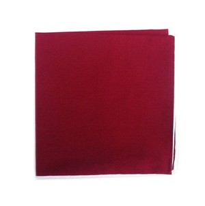Solid Color Cotton With Border Apple Red Pocket Square
