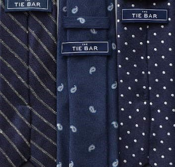 Tie Bar blue tie collection shows quality products with affordable price