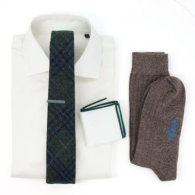 Barberis Wool Hunter Green Wedding Outfit