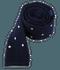 Knit Polkas Blue Tie