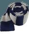 Knit Repp Stripe Silver Tie