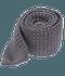 Textured Solid Knit Grey Tie
