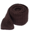 Textured Solid Knit Chocolate Tie