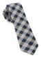 Splattered Gingham Navy Tie