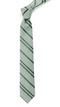 Wool Path Stripe Moss Green Tie