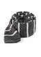 Scramble Knit Stripe White Tie