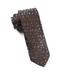 Milligan Flowers Chocolate Brown Tie