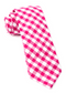 Classic Gingham Hot Pink Tie
