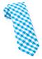 Classic Gingham Turquoise Tie