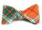 Vice Plaid Orange Bow Tie