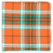 Vice Plaid Orange Pocket Square