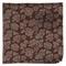 Intellect Floral Dark Brown Pocket Square