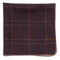 Wiseacre Wool Plaid Burgundy Pocket Square