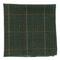 Wiseacre Wool Plaid Dark Clover Green Pocket Square