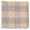 Printed Flannel Checks Mustard Pocket Square