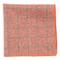Printed Flannel Pane Orange Pocket Square