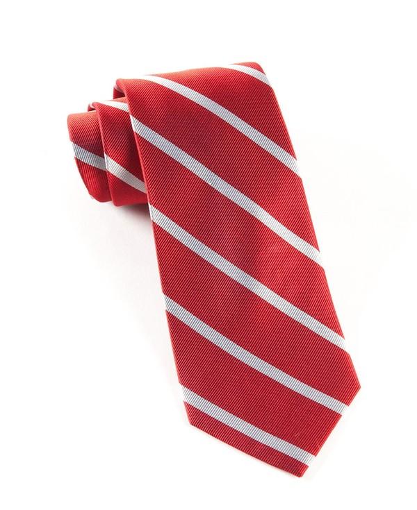 Trad Stripe Red Tie