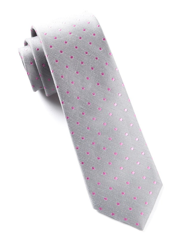 Dotted Dots Grey Tie