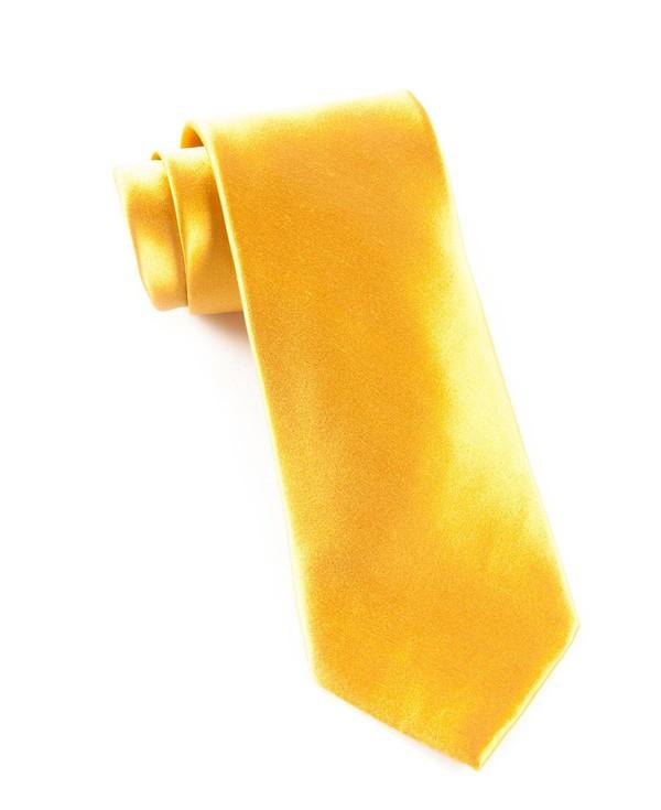 Solid Satin Mustard Tie