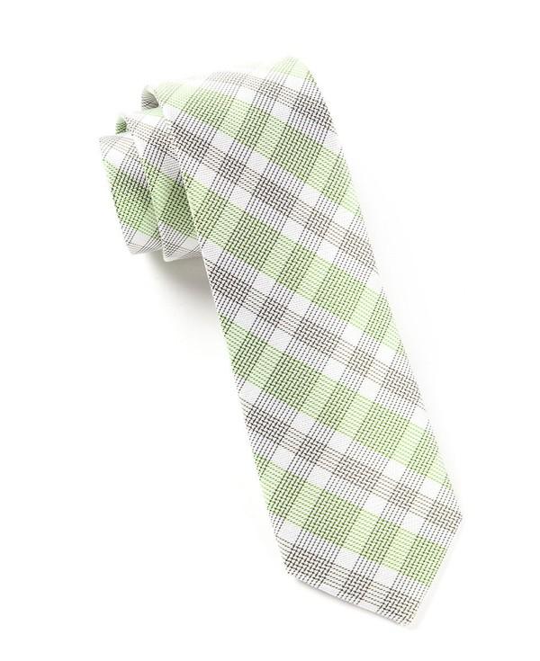 Screened Plaid Apple Tie