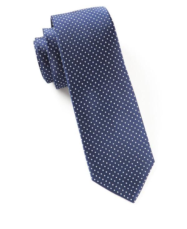Pindot Navy Tie