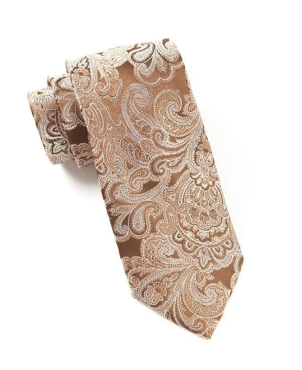 Designer Paisley Chocolate Brown Tie