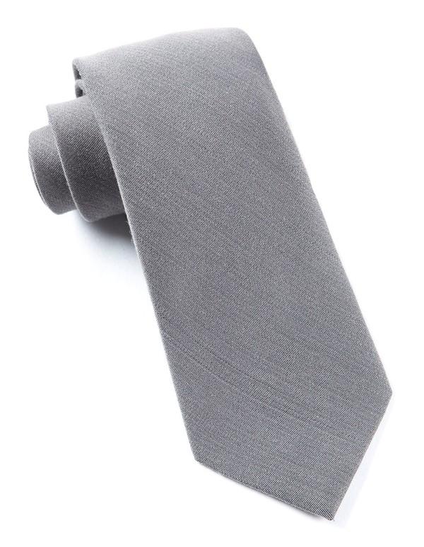 Solid Wool Grey Tie
