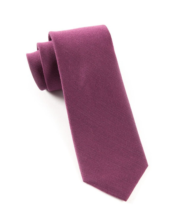 Solid Wool Wine Tie