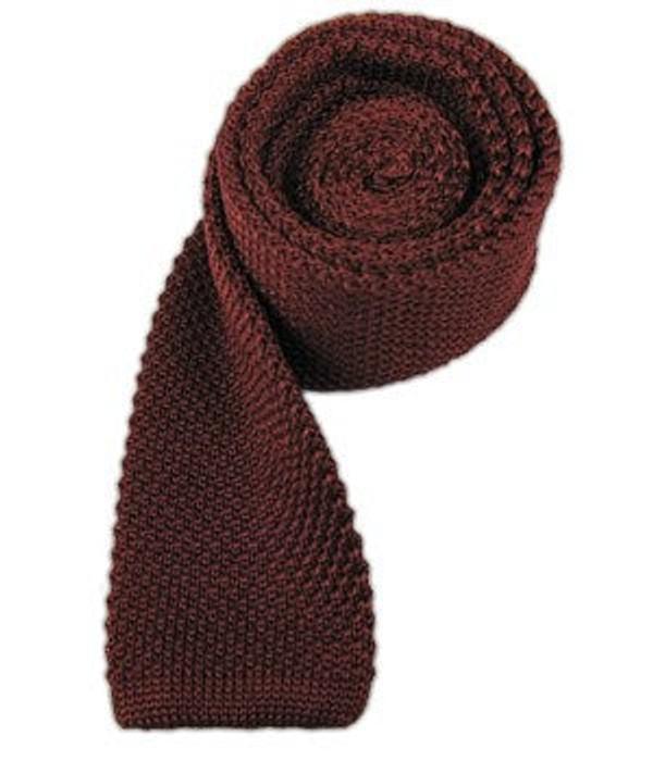 Knitted Burgundy Tie