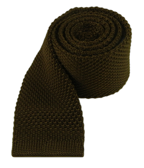 Knitted Chocolate Tie