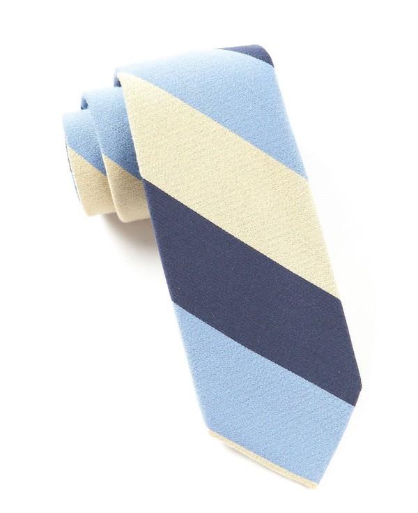 Big Wool Stripe Butter Tie