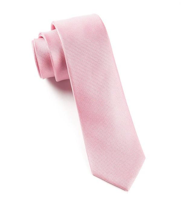 Solid Texture Baby Pink Tie