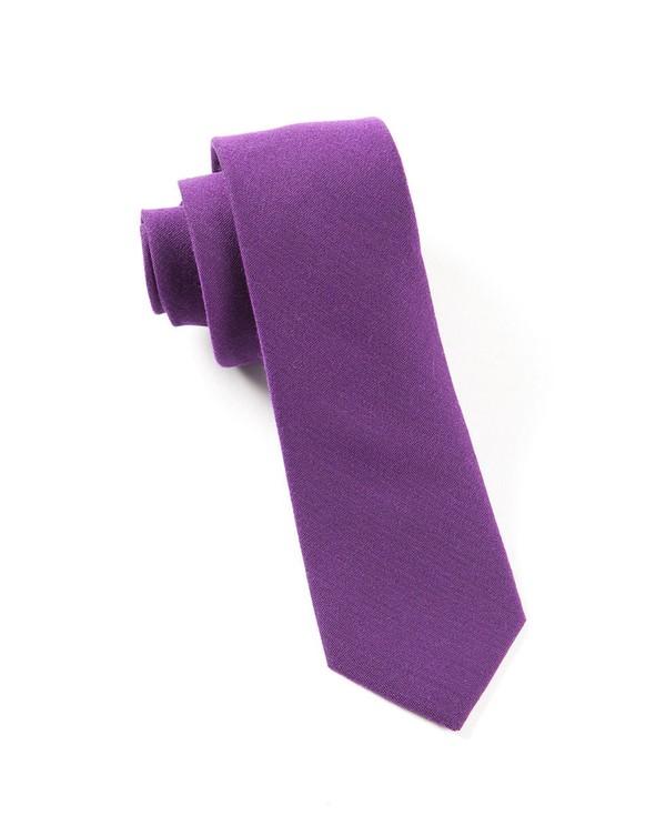 Solid Wool Plum Tie