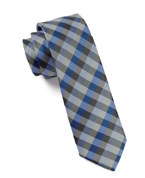 Colorful Gingham Blues Tie