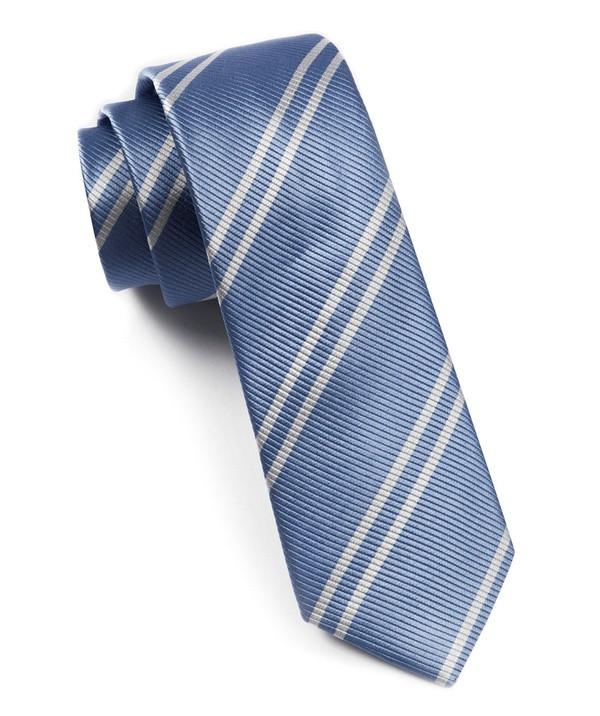 Double Stripe Carolina Blue Tie