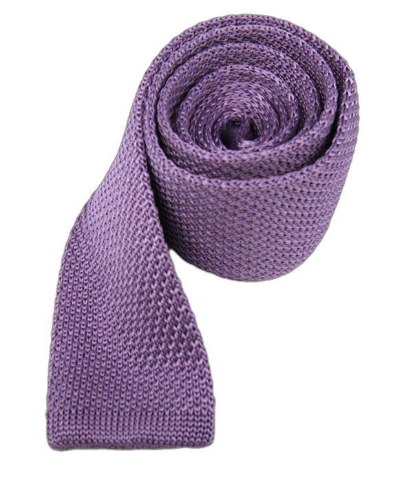 Knitted Lavender Tie