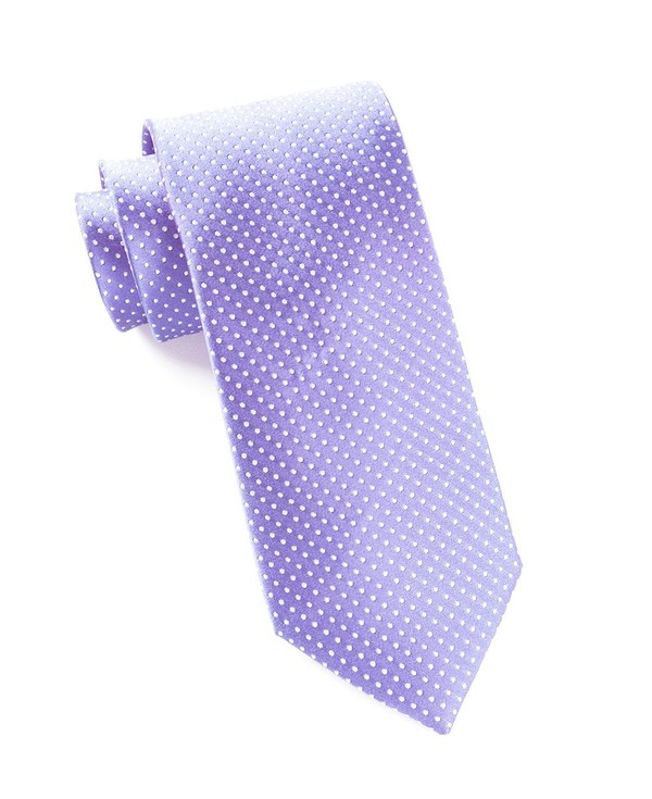 Pindot Lavender Tie