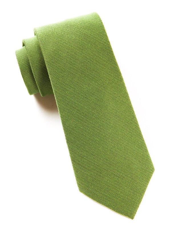 Solid Wool Moss Tie