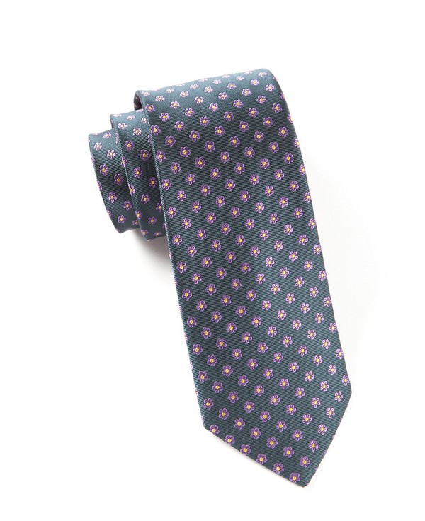 Anemones Steel Grey Tie