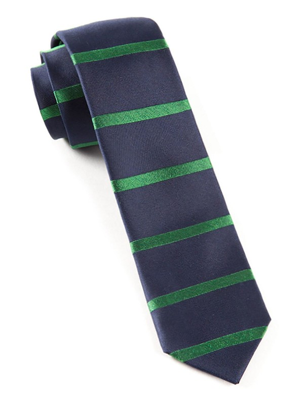 Road Horizontal Stripe Classic Navy Tie
