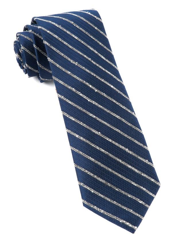 Laser Stripe Navy Tie