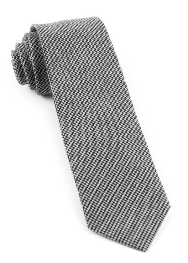 Small Saxony Check Black Tie