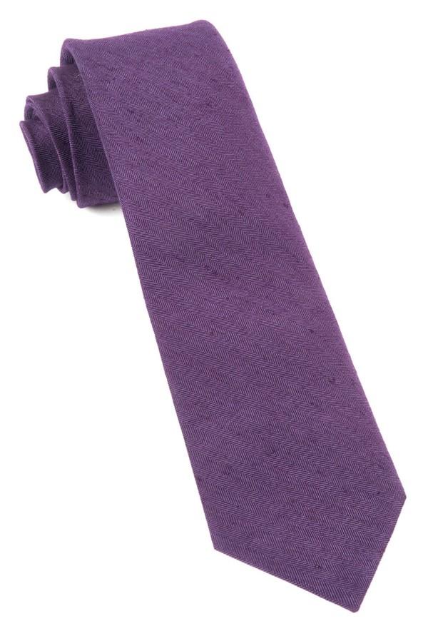 Linen Row Eggplant Tie