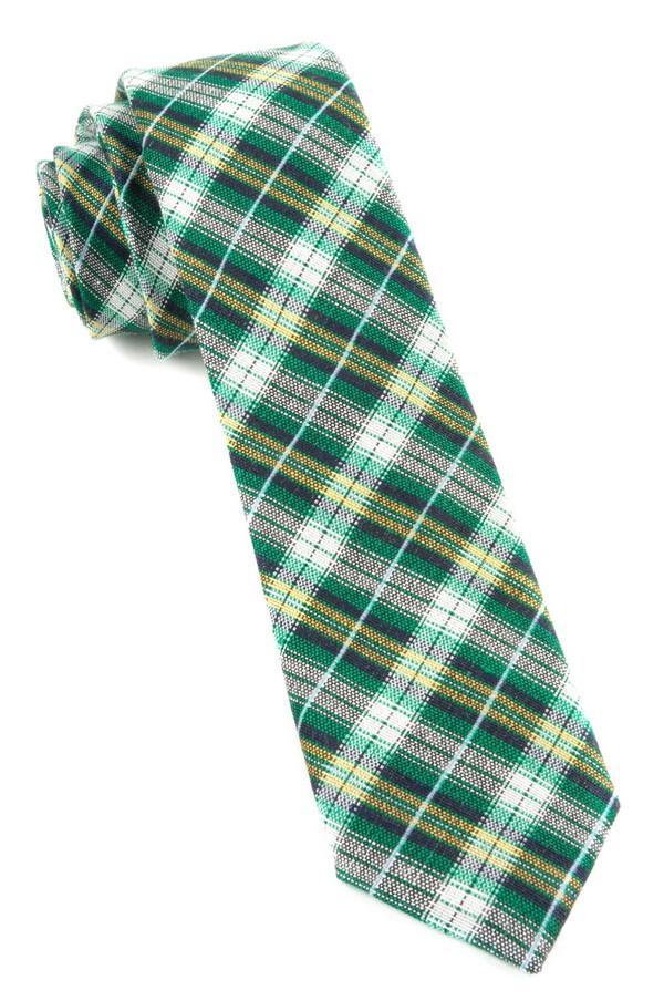 Plaid Outlook Kelly Green Tie