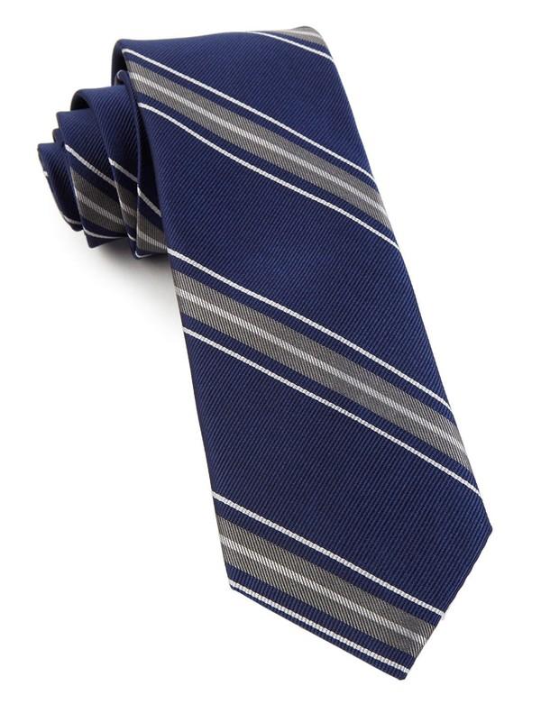 Detour Stripe Navy Tie