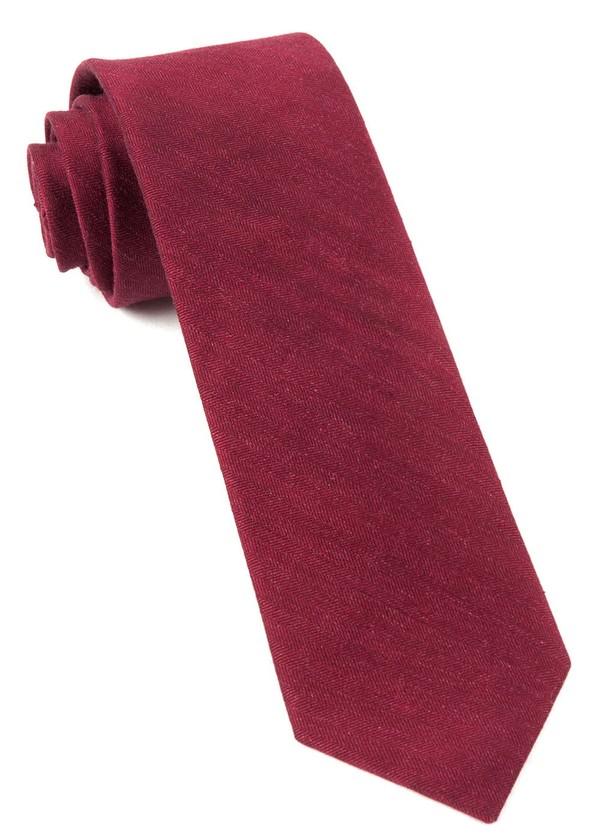 Linen Row Crimson Tie