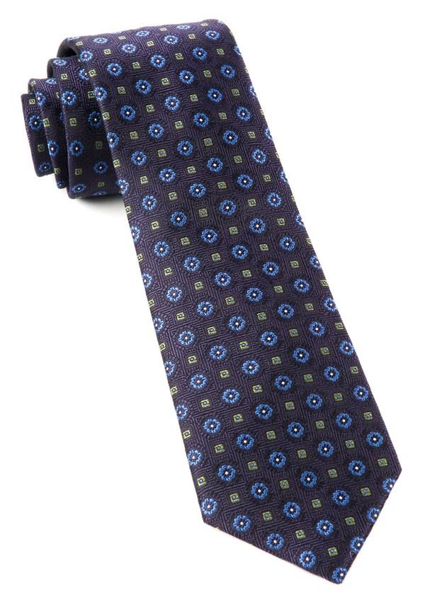 Midtown Medallions Eggplant Tie