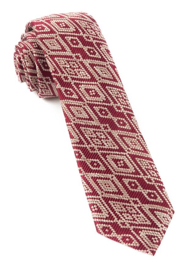 Aztecture Burgundy Tie